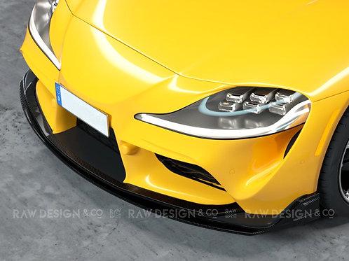 Carbon Front Lip Spoiler V1 for Toyota Supra MK5 A90 (2019 - 2020)