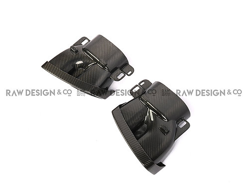 Dry Carbon Fibre Exhaust Tips for Mercedes C63 AMG W205
