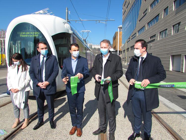 Inauguration du nouveau terminus du T2.