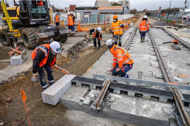 travaux tram T12