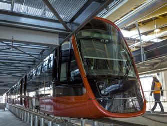 Alstom présente le Citadis X 05 de Nice et son SRS