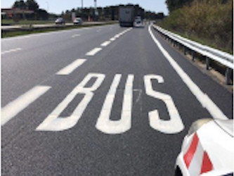 De plus en plus de voies autoroutières réservées aux bus en zone marseillaise