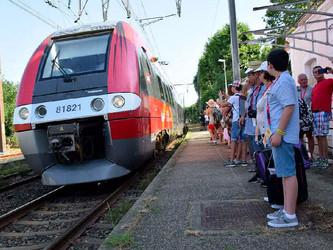 Des TER sur la ligne de la Rive Droite du Rhône en 2022