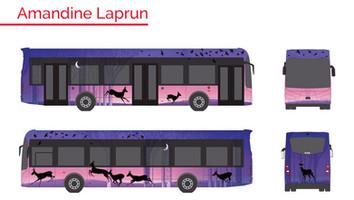 Strasbourg : les bus seront habillés par Célia Housset et Amandine Laprun