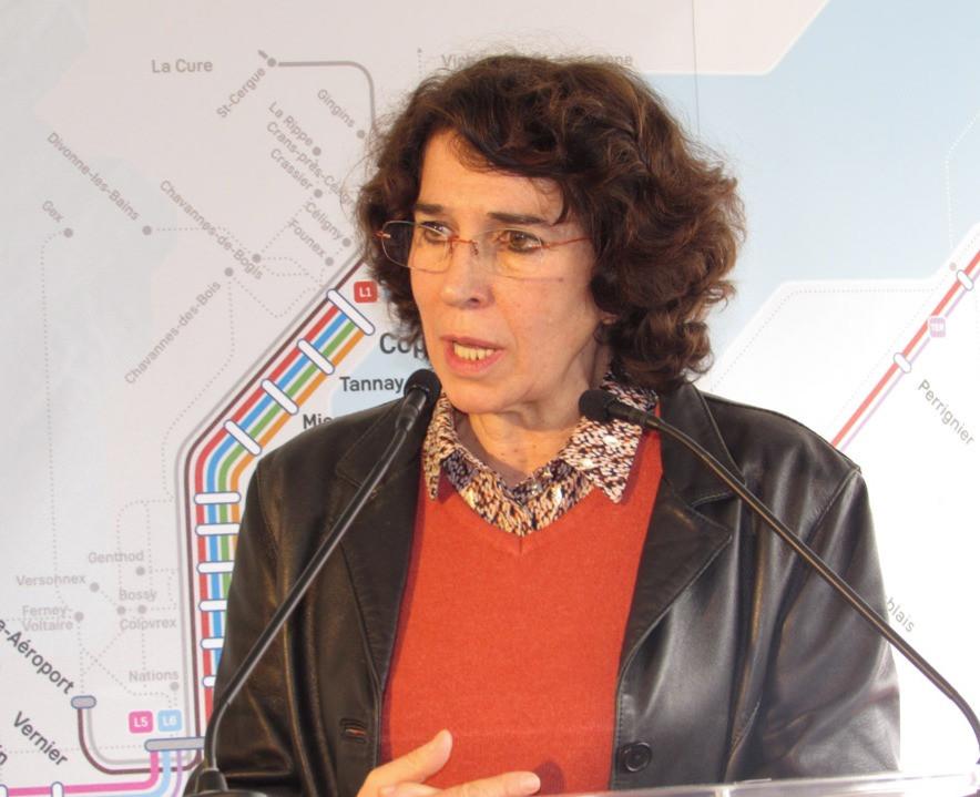 Martine Guibert, vice-présidente du conseil régional en charge des Transports.