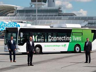 Webasto électrise un bus à l'aéroport de Munich