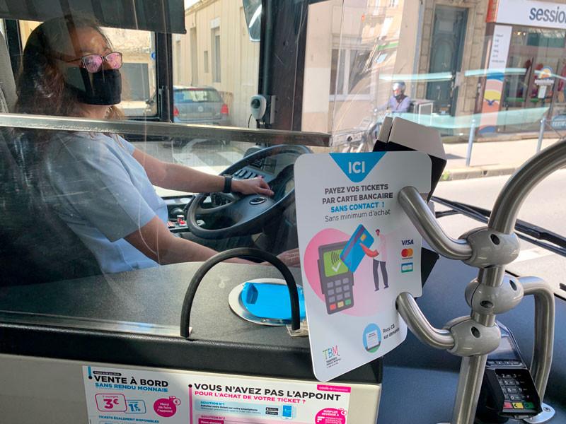 l'open payment dans bus Lyon