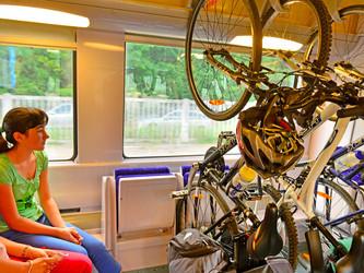 Des vélos dans les trains