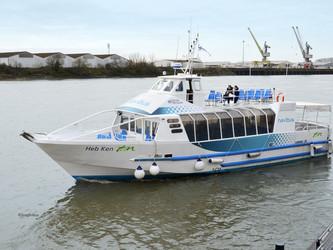 Une nouvelle navette fluviale Navibus Tan, à Nantes