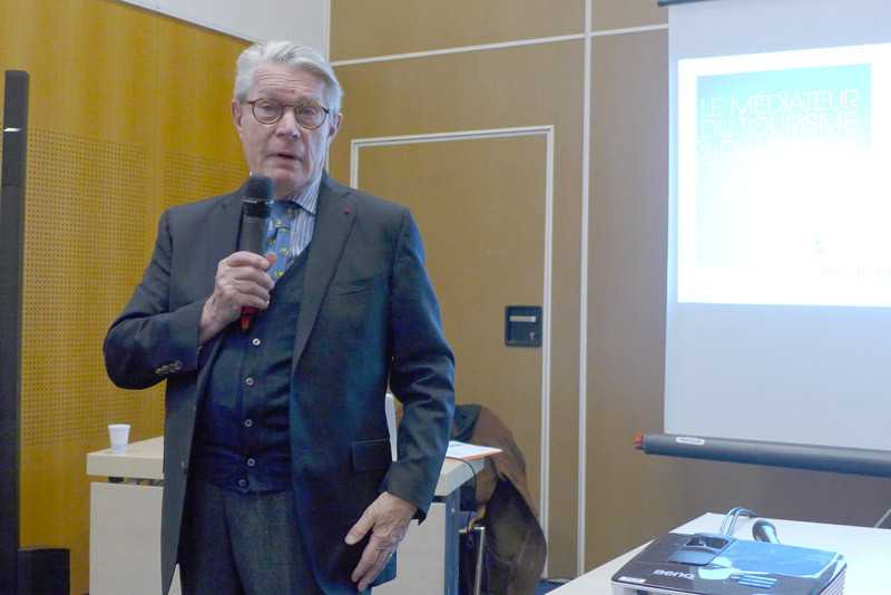 : Jean-Pierre Teyssier, médiateur du tourisme et des voyages. / Copyright : Catherine Mautalent