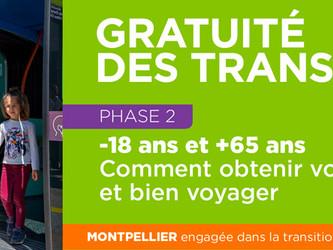 Nouvelle étape de la gratuité des transports à Montpellier