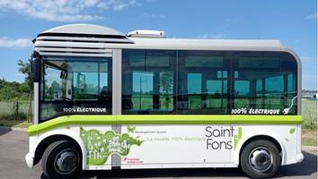 Saint-Fons teste une navette électrique Bluebus