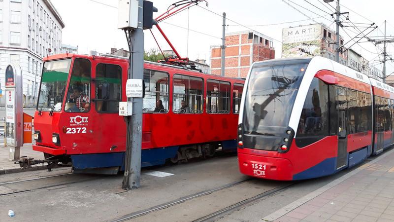 Tramways à Belgrade