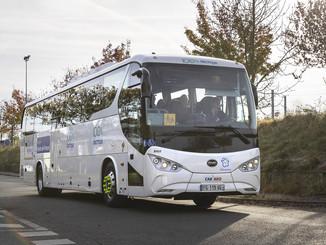 Deux cars électriques BYD pour les Hauts-de-France