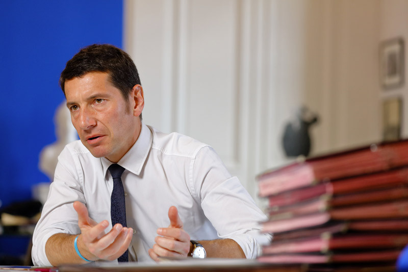 David Lisnard, président du comité régional de tourisme Côte d'Azur France.