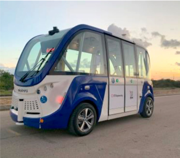 véhicule autonome Navya en Israël