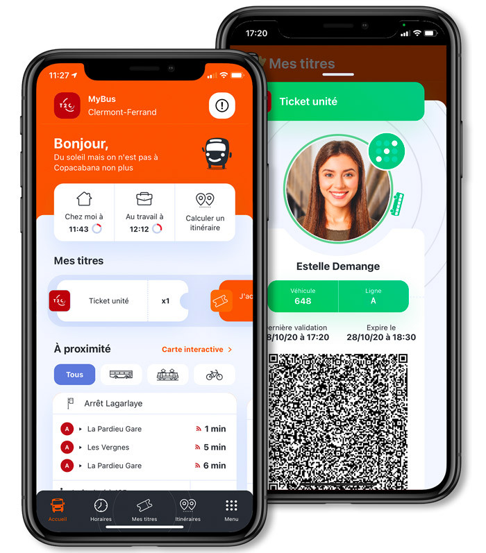 application tel MyBus : nouvelle version