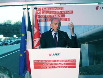 Inauguration de la jonction A89/A6