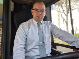 Laurent Fournel, conducteur à la TAN (Transports de l'Agglomération Nantaise)