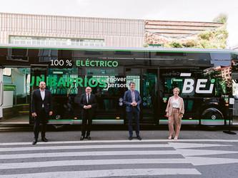 Siemens équipe d'Optiboard les nouveaux ie Tram d'Irizar de Vitoria-Gasteiz