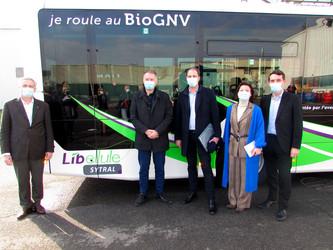 Le premier bus GNV MAN du Sytral roule à Villefranche-sur-Saône