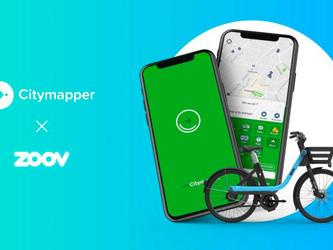 Les vélos Zoov disponibles sur Citymapper à Paris et Bordeaux !