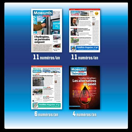 Mobilités Magazine - Outremer, Europe - abonnement 1 an