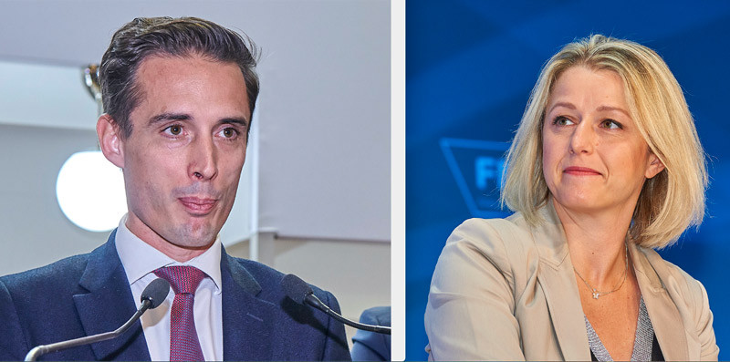 Barbara Pompili, ministre de la Transition écologique, et Jean-Baptiste Djebbari