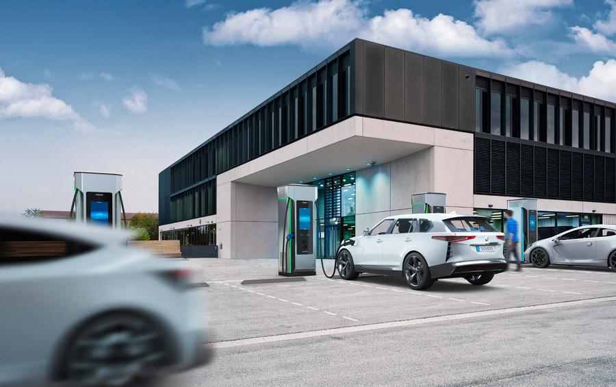 Siemens, station de recharge électrique haute puissance