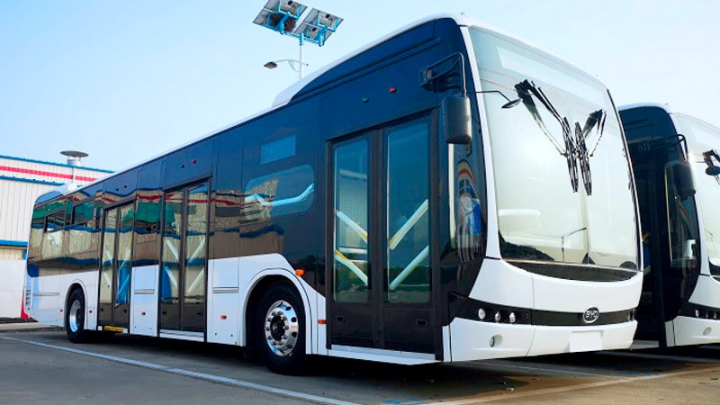 Bus électrique BYD en Colombie