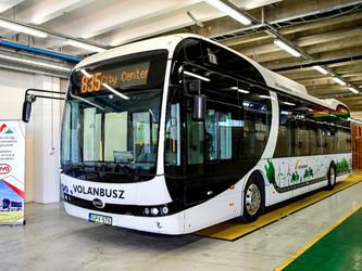Un eBus BYD entre la Hongrie et la Slovaquie