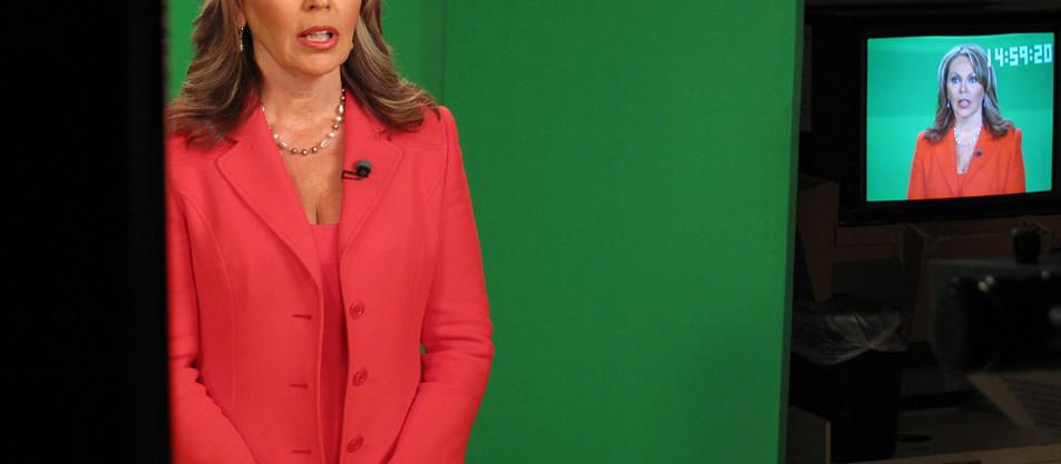 Shooting with Celebrity News Anchor Maria Elena Salinas for the Hispanic Scholarship Fund