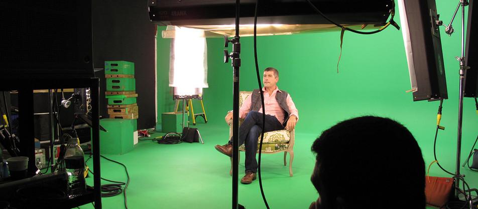 Shooting MAN SHOPS GLOBE promo for Sundance Channel