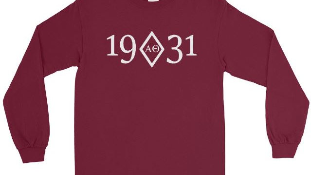 Alpha Theta Chartered Long Sleeve Cotton T-Shirt