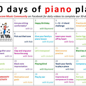 30 days of piano play