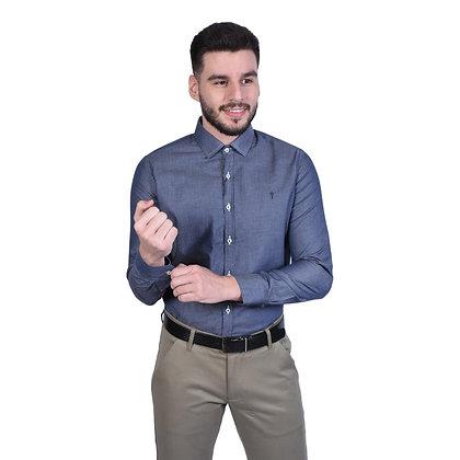 Camisa Indiccatto Manga Longa Slim Fit