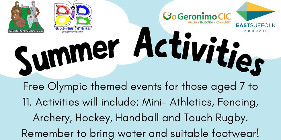 Carlton Colville FREE Summer Activity Day - 11th August 2021