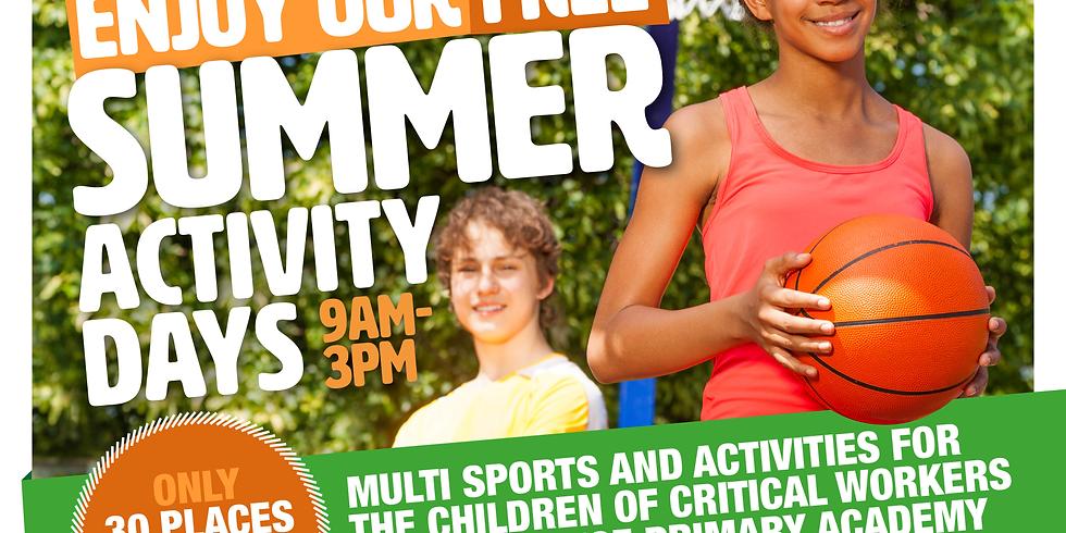 Summer Activity Days (Wednesday 12/8/20)