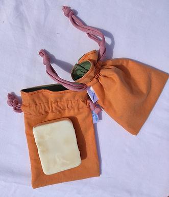 Pochette à savon orange