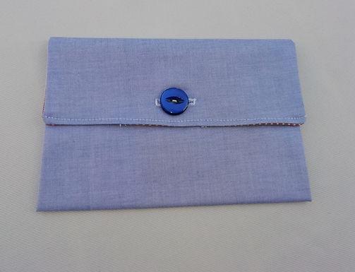 Pochette pour papiers bleue