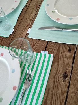 Set de table vert