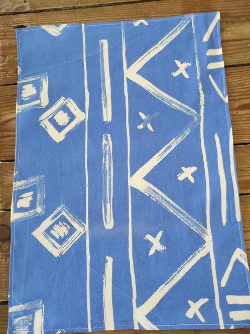 Set de table bleu graphique