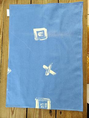 Set de table bleu symbole