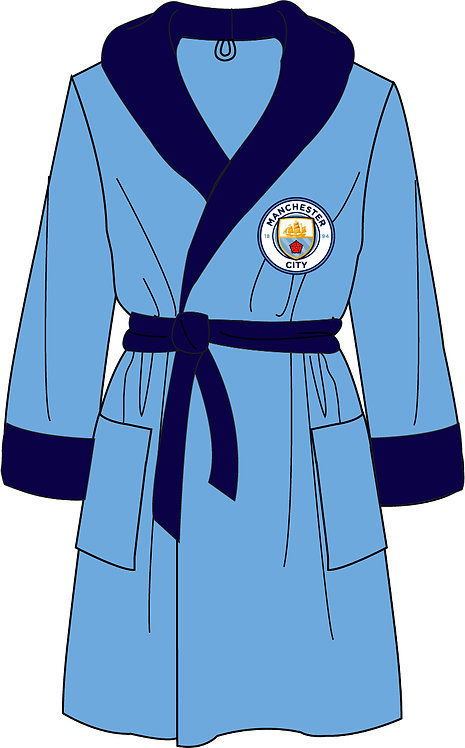 Mens Manchester City Dressing Gown S - XL