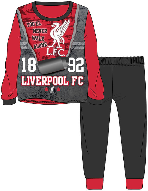 BOYS LIVERPOOL PYJAMA 3-12 YEARS