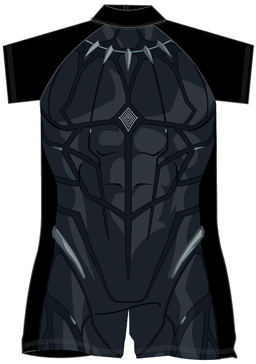 Boys Black Panther Surf Suit 18mon-5yrs
