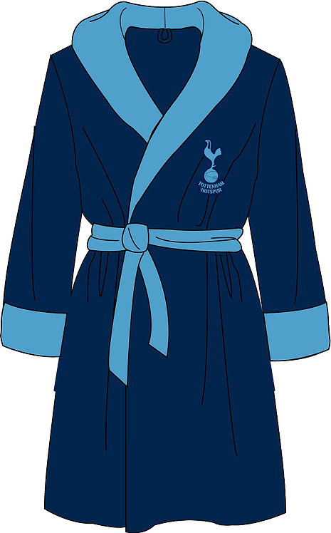 Mens Tottenham Dressing Gown S - XL