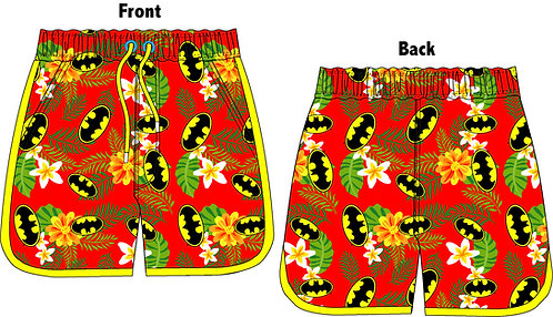 Mens DC Vintage Batman Board Shorts S-XL