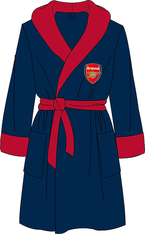 Mens Arsenal Dressing Gown S - XL