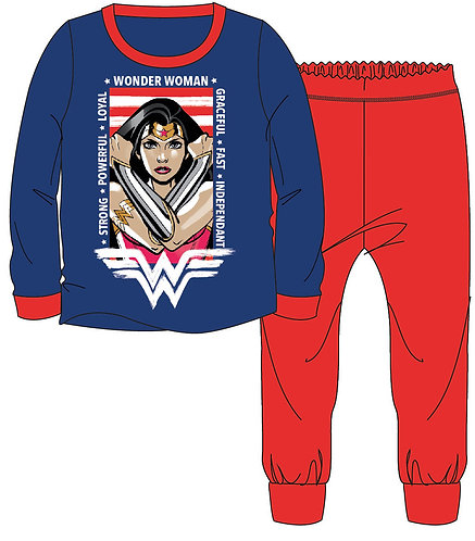 Girls Wonder Woman Pyjama 3-10yrs
